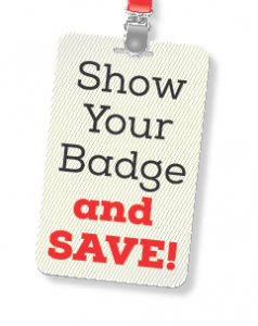 show your badge